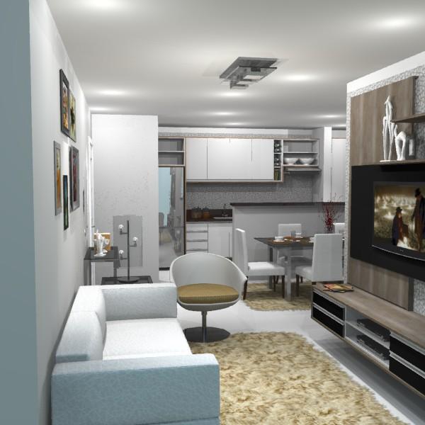 Sala de estar em apartamento comodit modulados for Modelos de sala de estar