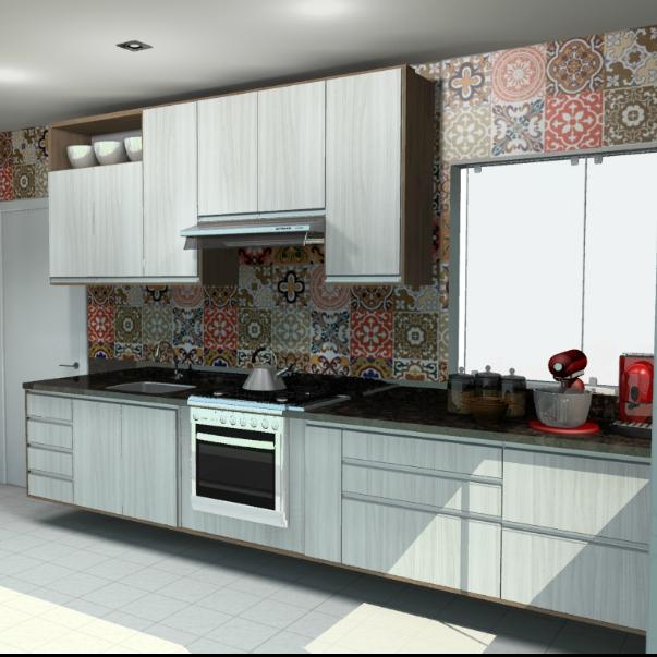 Móveis para cozinha pequena moderna Comodità by Portela # Cozinha Planejada Pequena Bh