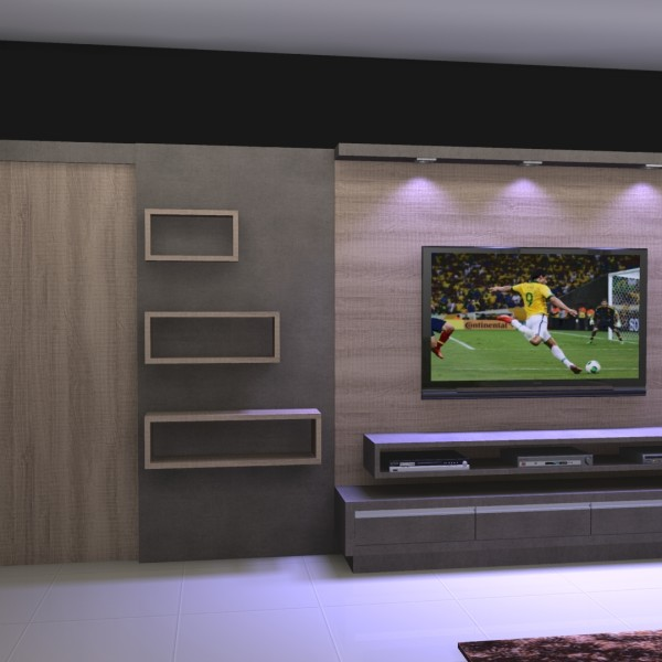 Sala sala home theater moderna decoraci n de - Sala home cinema ...