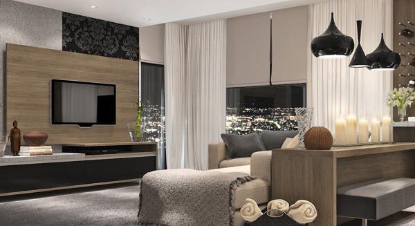 Decoração para sala de estar pequena e moderna   comoditá modulados