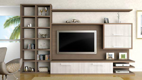 Ambientes planejados sala de estar com m vel planejado lindo - Armarios para sala de estar ...