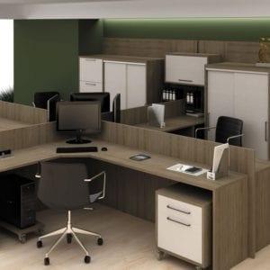Projeto de móveis para escritórios