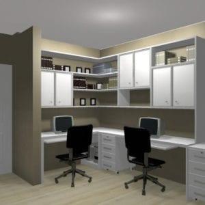Projeto para escritório planejado