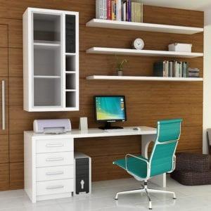 escrit rio com m veis para apartamento comodit modulados. Black Bedroom Furniture Sets. Home Design Ideas